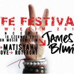 Plakat promujący festiwal Life 2011 w Oświęcimiu - jak widać organizatorzy stawiaja na nazwiska:-) | źródło: www.lifefestival.pl