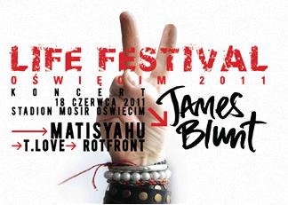 Plakat przygotowany na Life Festival 2011