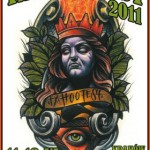 Tak wygląda plakat promujący tegoroczny Tattofest w Krakowie. | źródło: www.tattoofest.pl