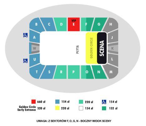 Tak wygląda rzut okiem na halę Atlas Arena, w której odbędzie się koncert Shakiry