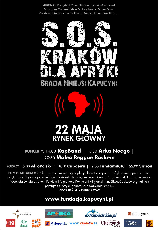 Plakat promujący akcję SOS Dla Afryki 2011