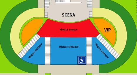 Rozkład miejsc w amfiteatrze w Parku Sowińskiego w Warszawie