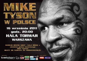 Plakat promujący galę boksu z udziałem Tysona