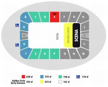 Rozkład miejsc podczas grudniowego koncertu artystki