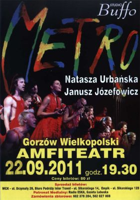 Plakat musicalu Metro