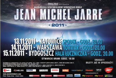 Plakat trasy listopadowej koncertowej artysty po Polsce
