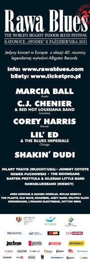Plakat promujący festiwal Rawa Blues 2011