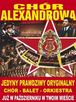 Plakat promujący październikowe koncerty rosyjskiego Chóru