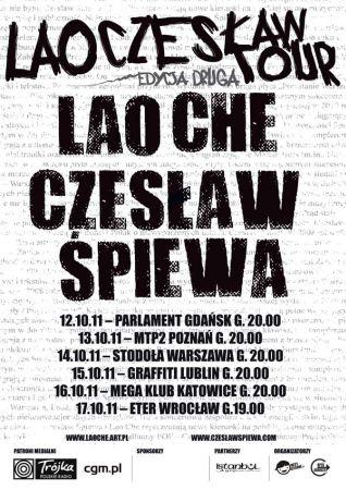 Plakat Lao Czesław Tour 2011