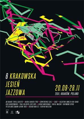 Plakat promujący 6 edycję Krakowskiej Jesieni Jazzowej