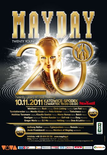 Plakat promujący 20 edycję festiwalu Mayday 2011