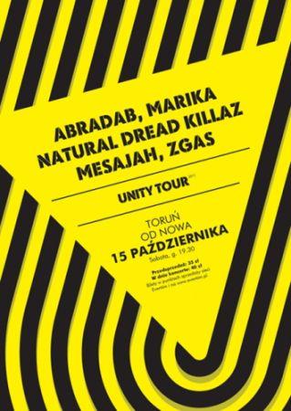 Plakat promujący krakowski koncert w ramach Unity Tour 2011