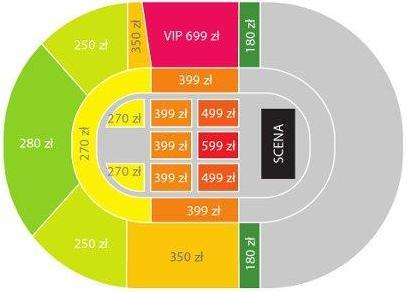 Rozkład miejsc w hali Atlas Arena w Łodzi na lipcowy koncert Eltona Johna