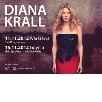 Plakat promujący koncerty Diany Krall w Listopadzie 2012 w Polsce