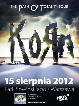 Plakat promujący sierpniowy koncert KoRn W Polsce