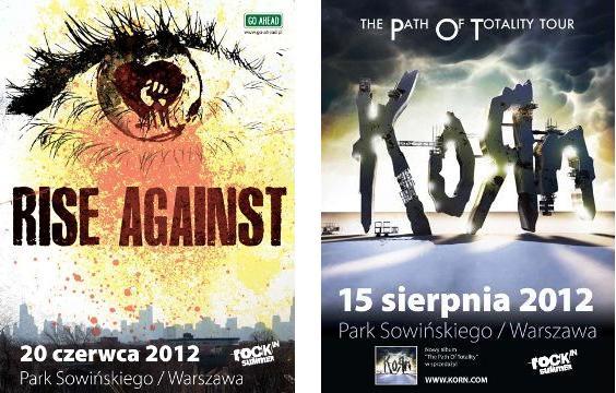 Plakaty promujące tegoroczny festiwal Rock in Summer 2012