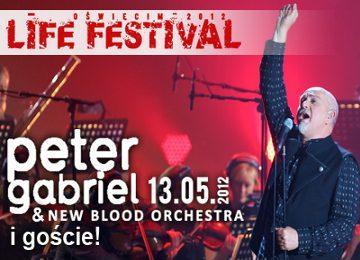 Plakat reklamujący koncert Petera Gabriela w Polsce