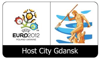 Wspólne logo UEFA Euro 2012 i Gdańska, miasta gospodarza imprezy