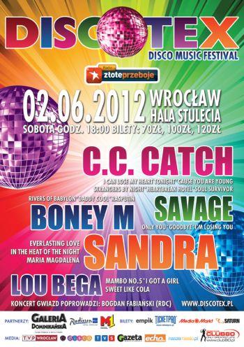 Plakat festiwalu Discotex 2012