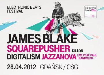 Plakat z tegorocznej edycji festiwalu Electronic Beats 2012