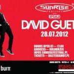 David Guetta zagra koncert w ramach Sunrise Festival 2012 dokładnie 28.07.2012 | fot. www.facebook.com/sfmdt