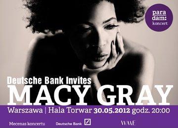 Plakat reklamujący koncert amerykańskiej wokalistki Macy Gray w Warszawie