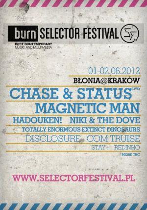 Plakat reklamujący tegoroczny Burn Selector Festival