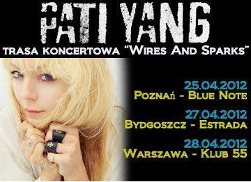 Plakat małej polskiej trasy koncertowej Pati Yang