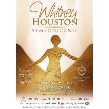 Plakat promujący premierowy koncert Whitney Houston Symfonicznie