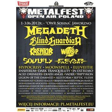 Plakat promujący festiwal Metalfest 2012