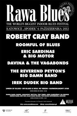 Plakat kolejnej edycji katowickiego festiwalu Rawa Blues
