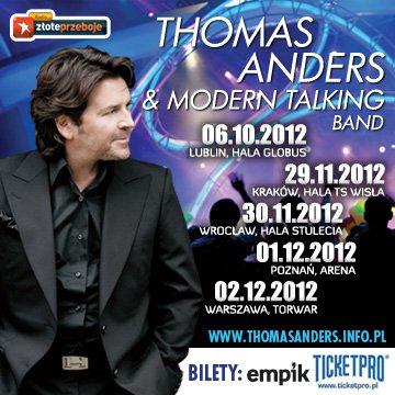 Plakat z tegorocznej trasy koncertowej po Polsce Thomasa Andersa i zespołu Modern Talking Band