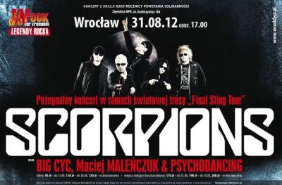 Plakat trasy koncertowej Final Sting Tour 2012