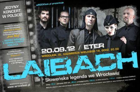 Plakat koncertu grupy Laibach we Wrocławiu