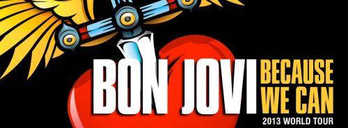 Trasa koncertowa zepsołu Bon Jovi w 2013 roku Because We Can - plakat