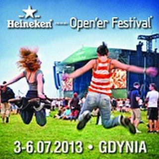 heineken Open'er Festival 2013 - plakat promujący wydarzenie