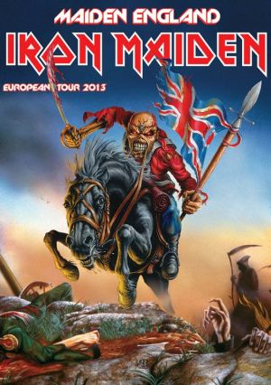 Maiden England Tour 2013 - plakat trasy koncertowej zespołu Iron Maiden