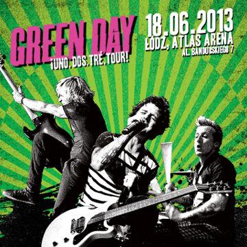 Koncert Green Day w Polsce w 2013 - plakat