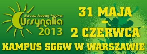 Ursynalia 2013 odbędzie się tradycyjnie na terenie Kampusu SGGW w Warszawie