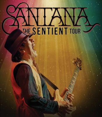 Carlos Santana - plakat promujący trasę koncertową The Sentient Tour 2013