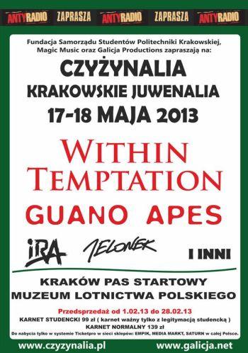 Juwenalia w Krakowie - czyli Czyżynalia - w 2013 roku. Plakat