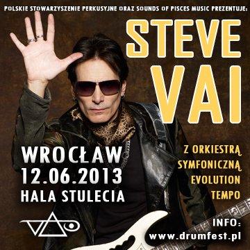 Steve Vai na koncercie wraz z Orkiestrą Symfoniczną Evolution Tempo Orchestra